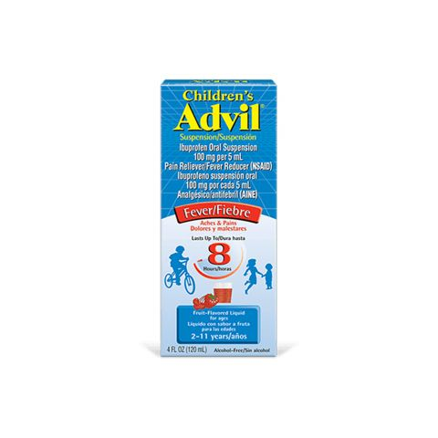 ADVIL (CHD) 4oz 8HR/F FRUIT (ORG) (6PC)
