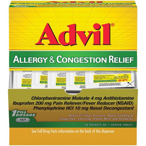 DSP* ADVIL ALLERGY CON RLF 50'S TAB  (BX)