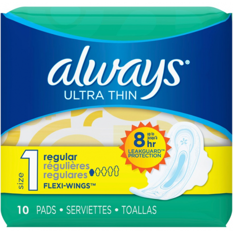 ALWAYS U/T 10'S X 12 REG FLEX W (34966) (CS)