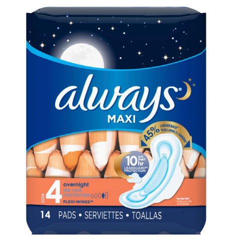 ALWAYS MAXI 14'S X 12 O/NGHT FLEX WNG (95089) (CS)