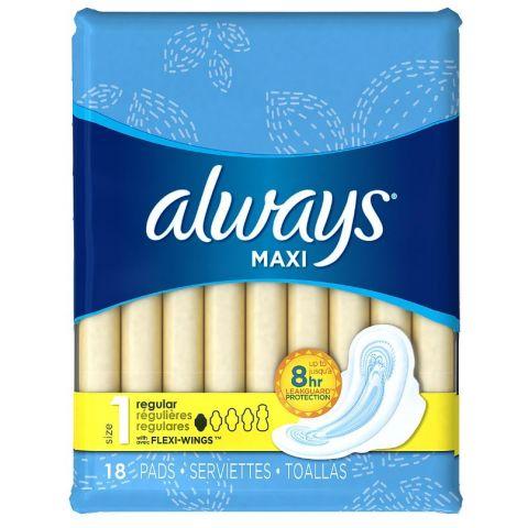 ALWAYS MAXI 18'S X 12 REG (30563) (CS)