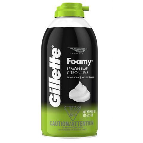 GILLETTE FOAMY 11oz LEMON LIME (6PC)