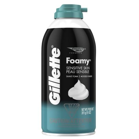 GILLETTE FOAMY 11oz SENTIVE  (6PC)