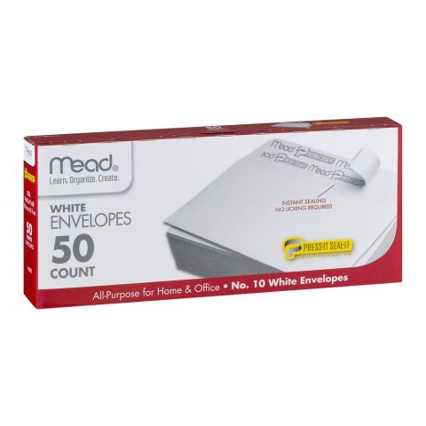 MEAD WHITE ENVELOPES 50'S (75050) (CS)