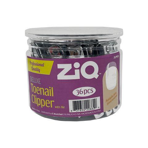 ZIQ TOE CLIPPER & FILE W/CHAIN JAR (JAR)