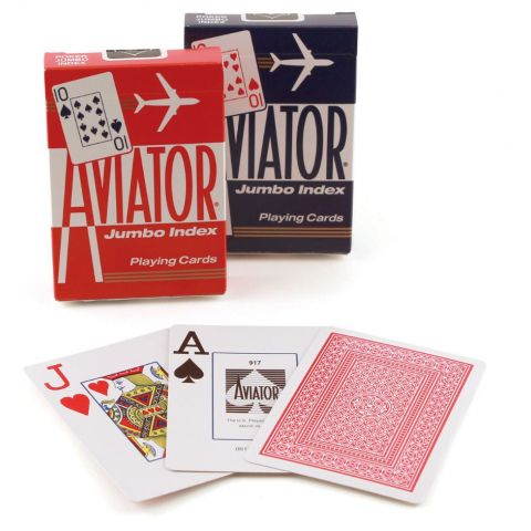PLAYING CARDS AVIATOR JUMBO #917 (1000876) (BX)