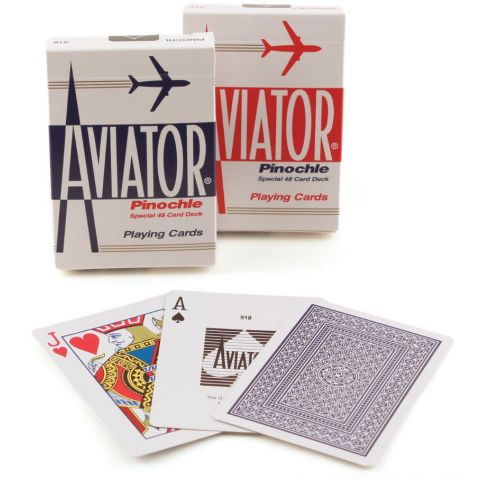 PLAYING CARDS AVIATOR PINOCHLE #918R (1000866) (BX)