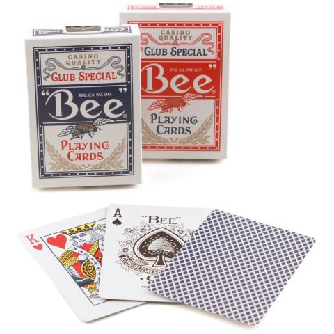 PLAYING CARDS BEE POKER D/BACK #92R (1004508) (BX)