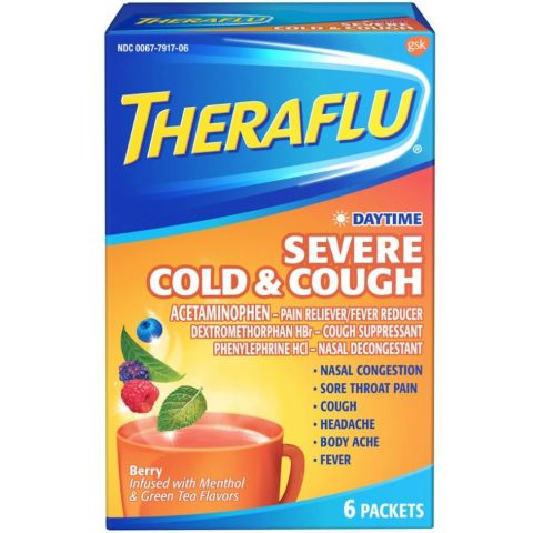 THERAFLU 6'S DAYTIME SEV COLD & CGH BERRY 6pc