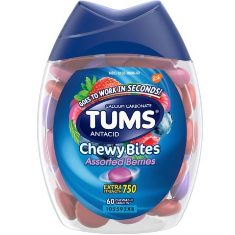 TUMS CHEWY BITES 60'S ASSORTED BERRIES (2DZ)
