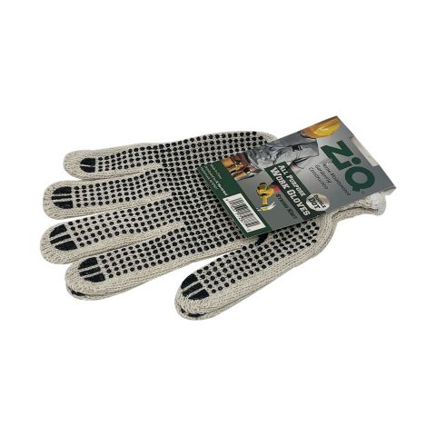ZIQ WORK GLOVES DOUBLE DOT (ZIQWG003) (PK)