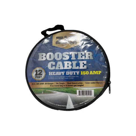 ZIQ JUMPER CABLE 150 AMP 12FT (PK)